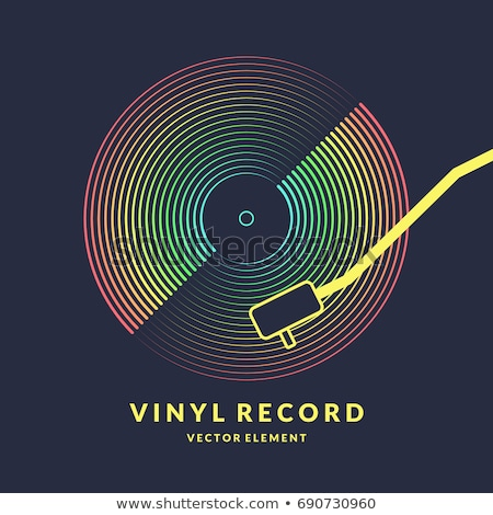 Vinilo disco arte disco rock negro Foto stock © Sonya_illustrations