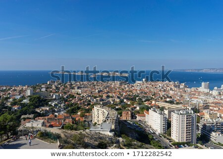 Areal view on Marseille from mountain, France Stock photo © Ionia