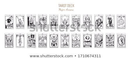Tarot tarjetas central tarjeta enfoque fuera Foto stock © courtyardpix