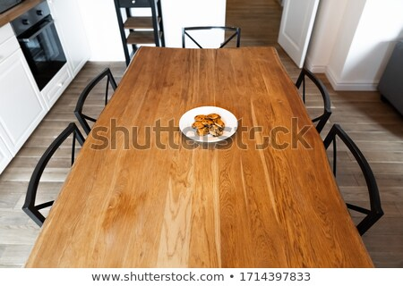 Heavy Oak Table and Chairs stock photo © mpetersheim