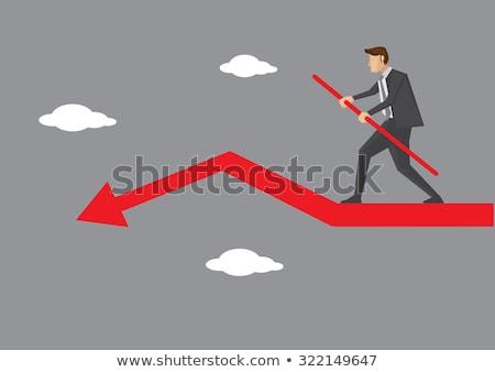 biznesmen · równoważenie · akt · biały · spaceru - zdjęcia stock © wavebreak_media