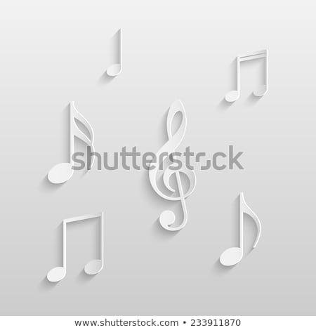 Muziek merkt geïsoleerd witte vector eps Stockfoto © leonardo