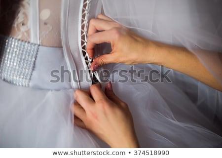 Menyasszony esküvői ruha bolt tulajdonos esküvő nők Stock fotó © HighwayStarz