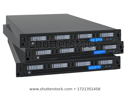 Stock photo: Blade Server And Disk Array Storage