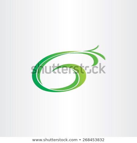 letter g bio gasoline plant icon Stock photo © blaskorizov