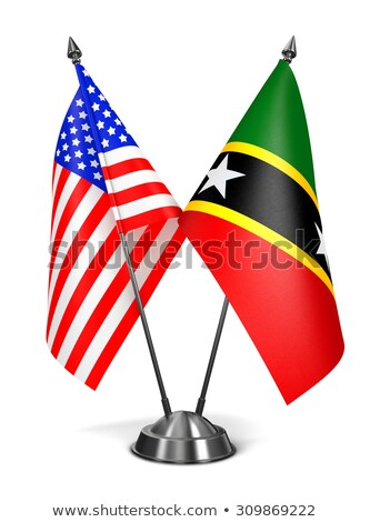 USA, Saint Kitts and Nevis - Miniature Flags. Stock photo © tashatuvango