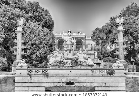 fountain of neptune in piazza del popolo rome italy stock photo © vladacanon