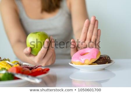 Nem egészségtelen étel szavak post it iroda papír Stock fotó © fuzzbones0