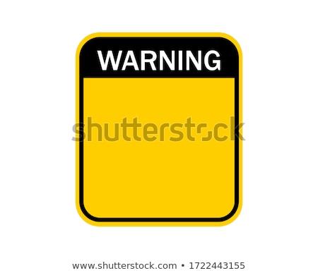 Jądrowej znak drogowy żółty drogowego niebieski Zdjęcia stock © fuzzbones0