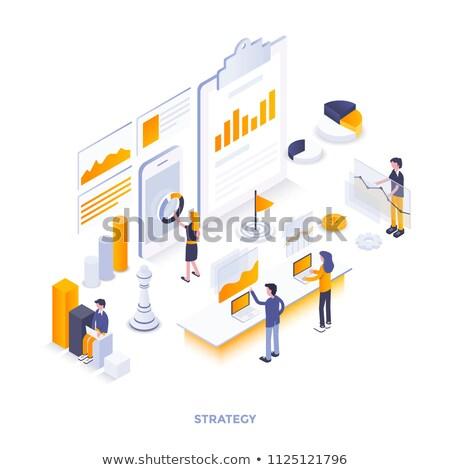 Flat Style Design Concepts for business analytics  Stock photo © DavidArts