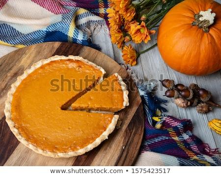 Hálaadás sütőtök pite friss sütő konyha Stock fotó © sarahdoow