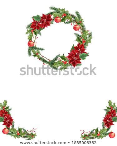 piros · ezüst · karácsony · tipográfia · mintázott · hópehely - stock fotó © maxmitzu