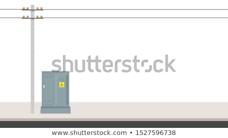 box for the telephone cables Stock photo © OleksandrO