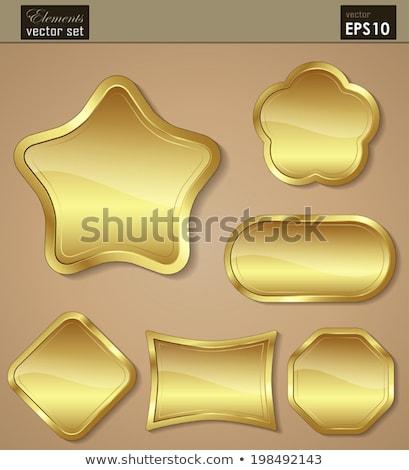 Vásárol arany vektor ikon terv háló Stock fotó © rizwanali3d