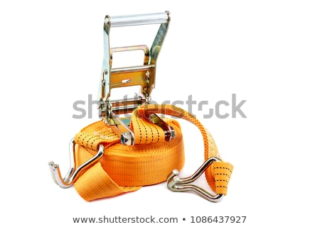 Orange ratchet strap on a white background Stock photo © Zerbor
