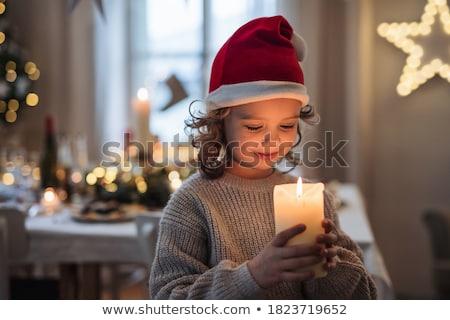 cute · meisje · portretten · mozaiek · verschillend · meisje - stockfoto © oleksandro