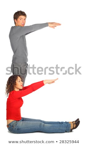 young man and woman represents  letter e Stock photo © Paha_L