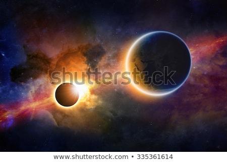 красный туманность пространстве планете Земля черная дыра вверх Сток-фото © sdecoret