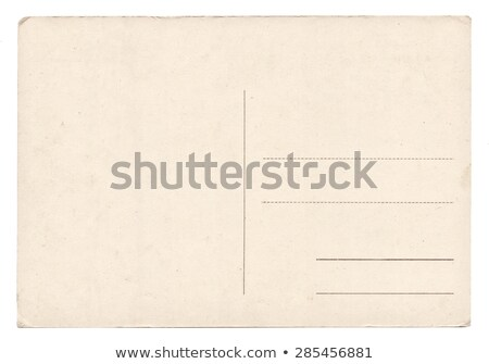 Old empty postcard isolated on white  stock photo © Paha_L