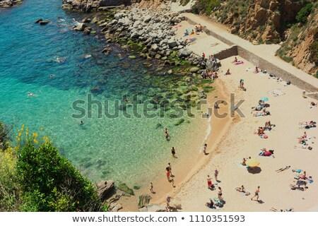 Tossa de Mar Codolar beach platja in Costa Brava Stock photo © lunamarina