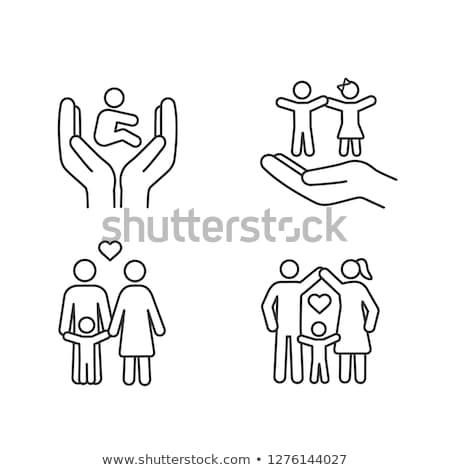 Garde d'enfants icône design médicaux services isolé Photo stock © WaD
