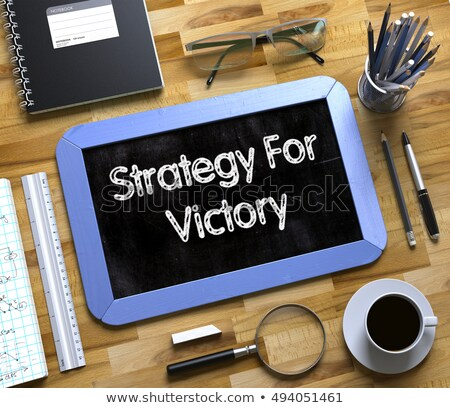 Strategico pianificazione piccolo lavagna offuscata Foto d'archivio © tashatuvango