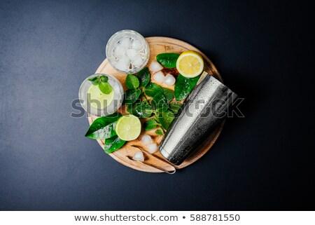 nane · taze · gıda · tablo · yeşil · bar - stok fotoğraf © netkov1