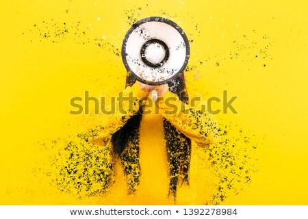 Stock photo: Fashion Model Shouting Colorful Splash