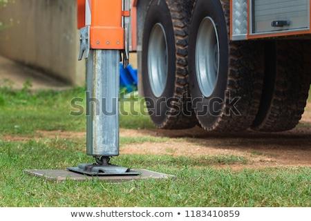 Guindaste pesado dever aço carro Foto stock © smuay