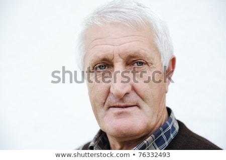 Primo piano profilo di bell'aspetto vecchio faccia uomo Foto d'archivio © zurijeta