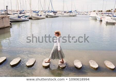 stepping stones across the ocean stock photo © kjpargeter