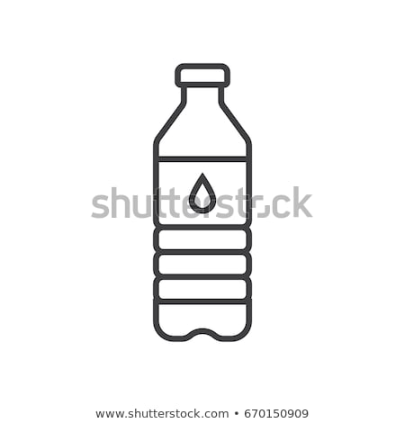 glass bottle line icon stock photo © rastudio