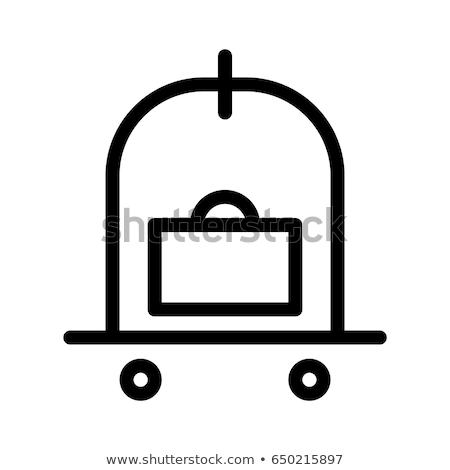 Rood · bagage · zakken · groot · klein · klaar - stockfoto © rastudio
