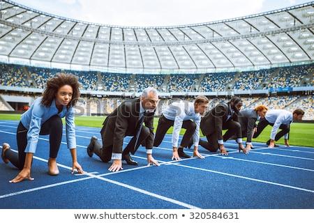 patkány · verseny · férfi · fáradt · munka · munkás - stock fotó © lightsource
