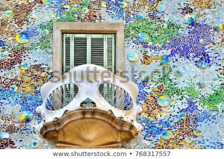 архитектура · подробность · familia · Барселона · стекла - Сток-фото © AchimHB