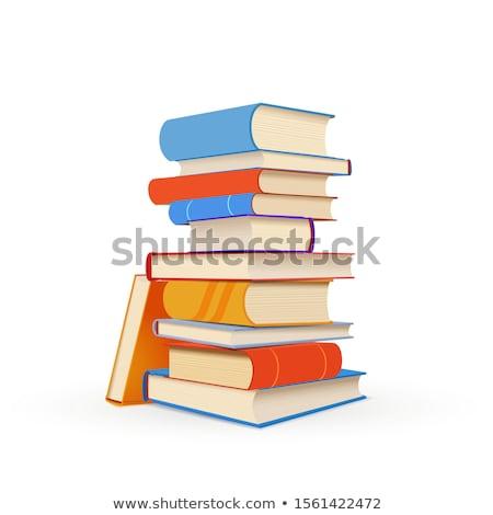 Renkli kitaplar yeşil tablo Stok fotoğraf © ozgur