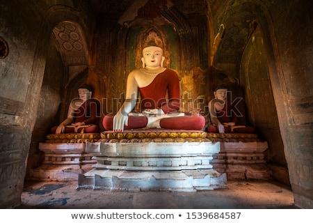 Buddha statue inside of Temple at Bagan Stock photo © Mikko