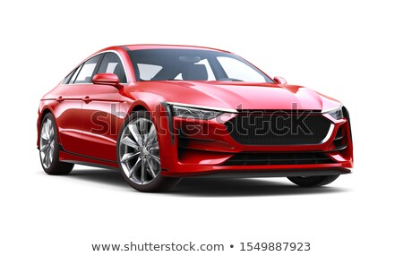 A red sedan vehicle Stock photo © bluering