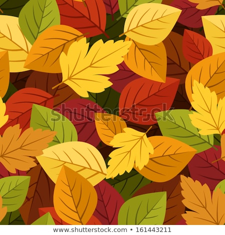 seamless withered leafs pattern background stock photo © leonardi