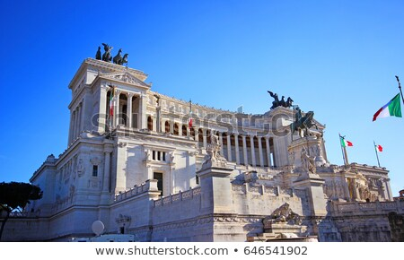 The Altare della Patria monument in Rome, Italy. Vintage Stock photo © photocreo