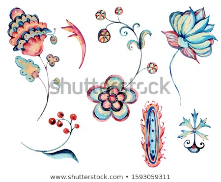 セット 水彩画 国境 グランジ デザイン 要素 ストックフォト © sdmix
