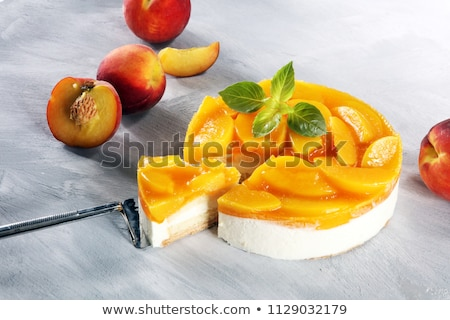 peach cake stock photo © yelenayemchuk