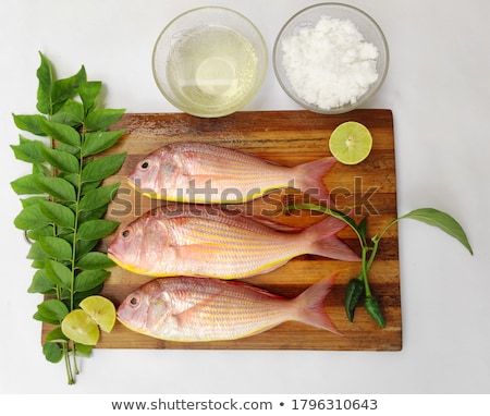 pembe · balık · beyaz · taze · sağlıklı · deniz · ürünleri - stok fotoğraf © vinodpillai