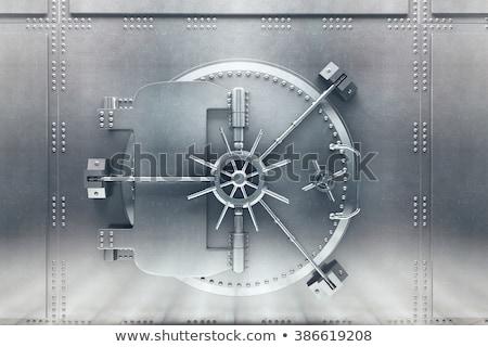 Bank agykoponya ajtó izolált fehér zárva Stock fotó © pakete