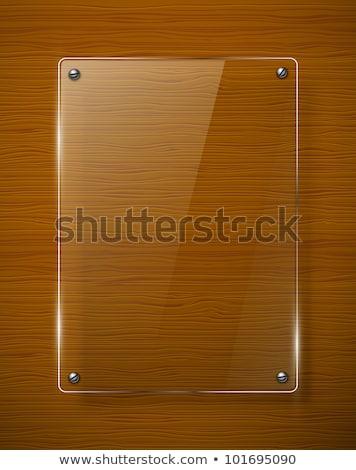 Houten frame hek planten illustratie bloem achtergrond Stockfoto © bluering