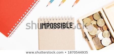 Possibile testo notepad matita rosso notebook Foto d'archivio © fuzzbones0
