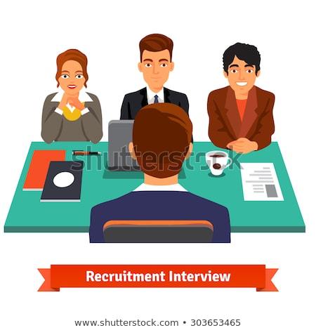 Entrevista candidato posições entrevista de emprego estilo escritório Foto stock © Photoroyalty