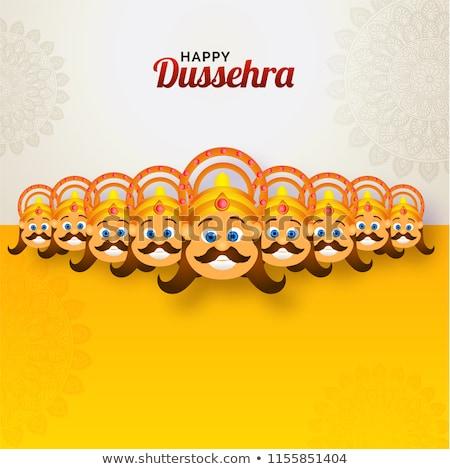 Dez festival Índia cartaz texto significado Foto stock © vectomart
