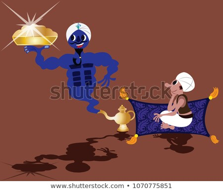 Genie flying out of the lamp Stock photo © bluering