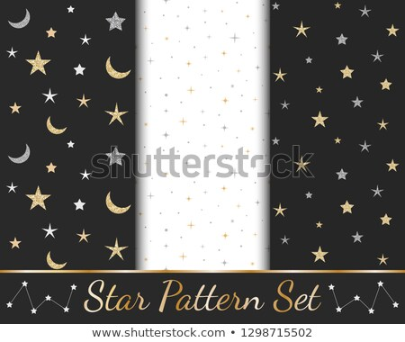 Golden moon invitation card, vector illustration Stock photo © carodi
